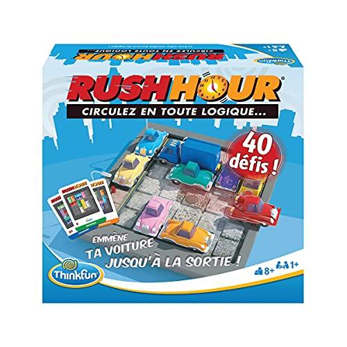 Ravensburger - Rush Hour - Jeu de logique Casse-tête - ThinkFun - 40 défis 4 niveaux - 1 joueur ou plus dès 8 ans - 76302(Multilingue, Français inclus)
