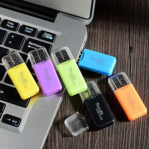 quanju cheer Handy-Speicherkarte Cooler Kartenleser TF-Kartenleser SD High Speed 2.0 Mini-USB-Kartenleser Grün