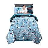 Franco Kids Bedding Super Soft Comforter and Sheet Set with Sham, 5 Piece Twin Size, Disney Frozen 2 Olaf