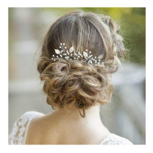 Yean Silver Bridal Hair Pins Bride Wedding Pearl...