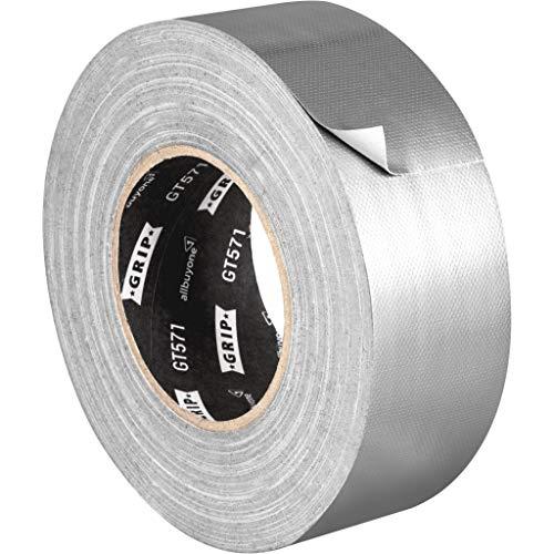GRIP Eventbasics GT 571 Universal Gewebeband silber, 50 mm x 50 m, Gaffa Tape zum Reparieren, Bündeln, Befestigen und Verstärken