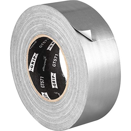 Gaffa Tape silber 50 mm x 50 m, GRIP Eventbasics GT 571, Universal Gewebeband zum Reparieren, Befestigen und Verstärken