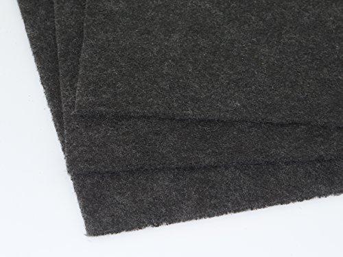Aktivkohle Filtervlies Filtermatte ca. 0,5 x 1m (aktuelle Charge: 0,55x1m) Dicke ca. 5-6mm Aktivkohlefilter Kohle Umlufthaube Filter für Küche Luftreinigungsanlage Rauchfilter allg. Geruchsbelästigung
