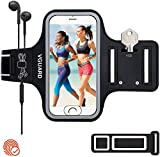 VGUARD Brazalete Deportivo para Correr, 6.5 Pulgadas Brazalete Móvil Deportivo con Banda Reflectante para iPhone 11/ Pro/Pro MAX, Galaxy S9/S8 Plus,Huawei P20 Lite, etc - (Negro)