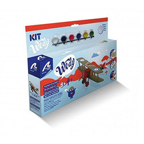Artesanía Latina Kit de Modelo de Madera para niños + 8: Sopwith Camel Avión