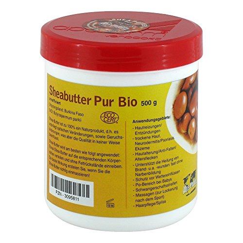 SHEABUTTER Bio Pur unraffiniert Creme 500 g
