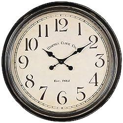 Cooper Classics Oversized 24 Metal Black Wall Clock