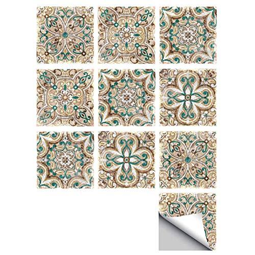 MXZJ Tegel Sticker Marokkaanse Stijl Tegel Sticker Keuken Backsplash Badkamer Muursticker Waterdichte Verwijderbare Muursticker (10 stuks)