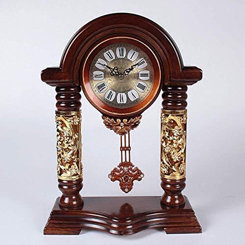 Relojes de la chimenea Permanente cuarzo del reloj de tabla libre de los relojes de la plataforma del reloj del escritorio retro sala de estar pendiente de la decoración del hogar sentado reloj de plá