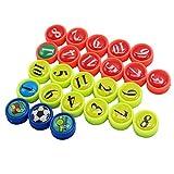 26 mini magneti con tasca, perfetti per lavagne tattiche da calcio, ufficio, lavagne, frigoriferi, carte e lavagne magnetiche