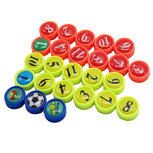 Imanes Nevera, BizoeRade 26 Unidades Mini fútbol imanes con bolsa, ideal para fútbol Táctica Formas, Oficina, pizarra blanca, frigoríficos, tarjetas & pizarras magnéticas