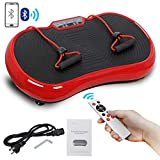 SUPER DEAL Pro Vibration Plate Exercise Machine - Whole Body Workout Vibration Fitness Platform Fit Massage Workout Trainer w/Loop Bands + Bluetooth + Remote, 99 Levels (Red) from SUPER DEAL