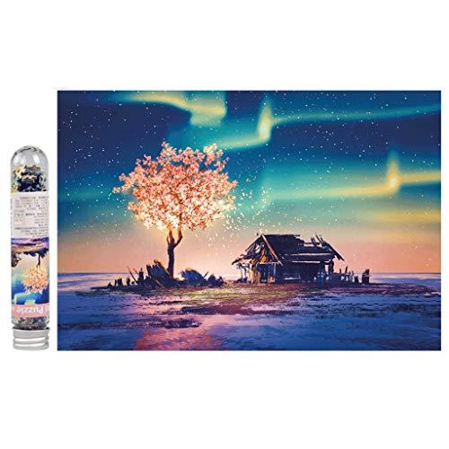 ZCXZY 234 Stück Mini Reagenzglas Puzzlen mit Fotorahmen berühmte Gemälde Sternenhimmel Landschaft Kreative Dekompression Spielzeug (Color : D)