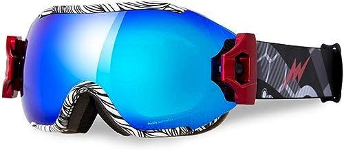 RUIMA Lunettes de Ski et Lunettes de Snowboard - Lunettes de Neige de qualité supérieure pour Hommes, Femmes. (Couleur   Style B)