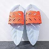 KIKIGO Zapatos de jardinería, sandalias de plataforma de tamaño grande para hombre, de goma y plástico, ligeros, resistentes al desgaste, antideslizantes, zapatos de baño, gris y naranja, 51