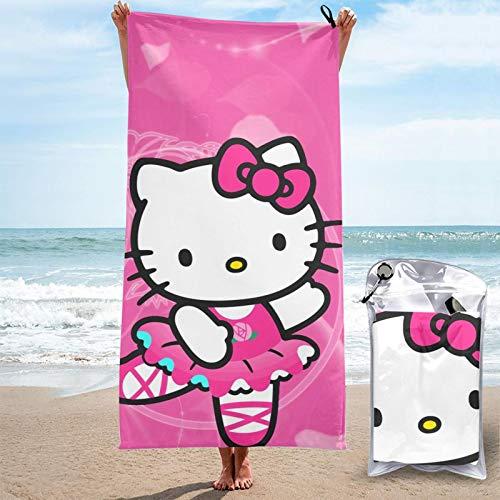 JJKKFG-H Hello Kitty - Toalla de microfibra de secado rápido, ligera, para piscina, natación, viajes, playa, gimnasio, deportes, 27.5 x 55 pulgadas