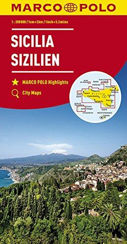 Marco Polo Sicilië 14: Wegenkaart 1:200 000