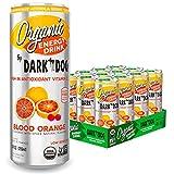 Organic Energy Drink Blood Orange By Dark Dog | 12 Oz (12Count) | Powerful Organic Caffeine From...