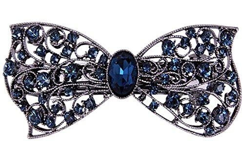 élégant bandeaux/bowknot pince à cheveux/belle bandeau, des strass bleu foncé