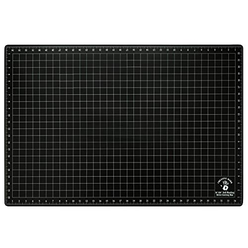"Creative Mark 24x36 Professional Self Healing Cutting Mat for Home Office & Studio Without Harming Your Desk Studio Design Lightbox Shop Craft & Hobby Use - [24x36"" - Black]"