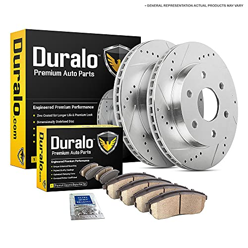 Duralo Rear Brake Pads and Rotors Kit For Chevy Silverado 1500 Tahoe Suburban GMC Sierra 1500 Yukon Cadillac Escalade - Duralo 153-1038 New