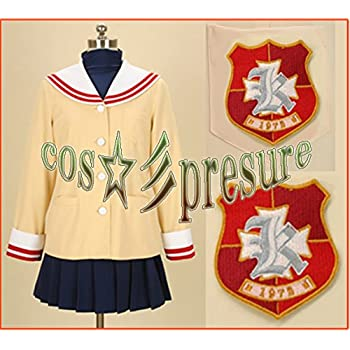 1878 【cos-presure】CLANNAD クラナド 光坂高校女子制服冬服2年 風☆彡コスプレ衣装