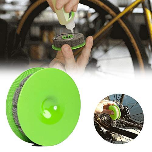 BSTCAR Rodillo de aceite de cadena de bicicleta, herramienta de cuidado de bicicletas de engranaje de cadena de bicicleta, limpiador de cadena de bicicleta