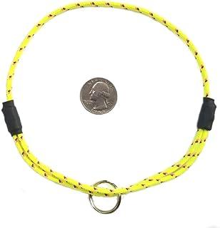 "National Leash Mountain Rope Dog ID Collar- Sunshine Yellow- Medium (14""-20"") Ultra Lite"