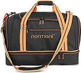 normani Sporttasche 58 Liter - Fitnesstasche - Reisetasche mit großem Schuhfach und Nassfach für Damen und Herren | 55 cm x 30 cm x 36 cm Farbe Orange