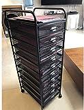 LILIS Aktenschränke für Bürodokumente 6 grid A3 Datei Rack Wagen, Eisenkunst 6-Schicht...