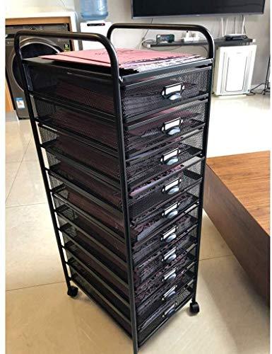 SOAR Cajoneras 6 rejilla de la cesta de rack archivo A3, el arte del hierro de 6 capas de clasificación titular de archivo cajón de la compra de múltiples funciones de la Oficina de almacenamiento Org