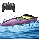RC Boat for Pools and Lakes Remote Control Boats for Kids Adults 2.4Ghz Radio Controlled Boat 10km/h High Speed Race Boat Toys Gifts for Boys Girls