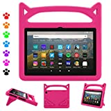 Fire HD 8 Plus Tablet Case,Fire HD 8 Case (10th Generation, 2020 Release),Dinines Lightweight Kids-Proof Case with Handle Stand for Amazon Kindle Fire HD 8 Tablet/Fire HD 8 Plus,Pink