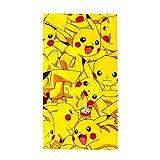 Pokemon Boom Pikachu Serviette en Coton Jaune 140 x 70 x 2 cm