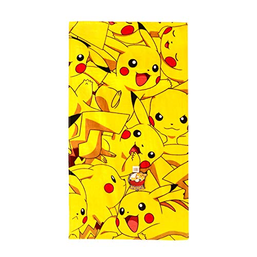 Pokemon Boom Pikachu Handtuch, Baumwolle, gelb, 140 x 70 x 2 cm