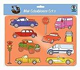 URSUS 44100002 Mal Set 2 für Kinder, 6 transparente Schablonen mit unterschiedlichen Motiven, Kunststoff und 6 farbige Motivvorlagen, bunt, 26,8 x 18,9 x 0,2 cm