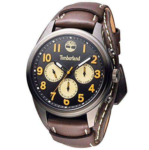Timberland Reloj Analógico para Hombre de Cuarzo con Correa en Cuero TBL.14477JSU-02