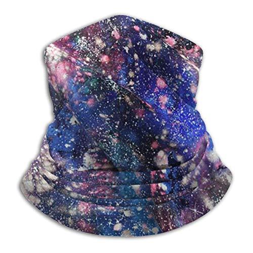 Tube Mask Hoofdband Unisex Galaxy Watercolor Splatter Winter Fleece Neck Warmer Gaiters Haarband Koud Weer Tube Gezicht Masker Thermische hals Sjaal Outdoor UV Bescherming Party Cover Zwart