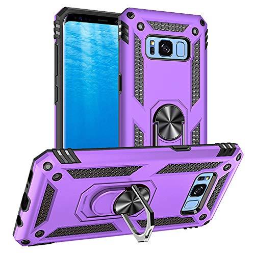Yiakeng Coque pour Samsung Galaxy S8, Samsung S8 Coque, Silicone Antichoc Défense Bumper Armure Housse Etui pour Samsung Galaxy S8 (Violet)