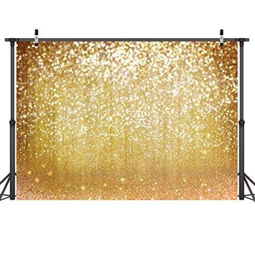 LYWYGG 7x5FT Fondo para Fotografía Diseño de Partículas de Plata Fondo de Espiga Diseño de Fantasía con Purpurina Metal para Navidad festividad Fiesta Sesión Decorativa Vídeo Estudio CP-10
