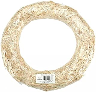 Afloral Natural Straw Wreath Fall Decoration - 16