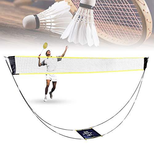upstartech Badminton Set Netz Tragbares Volleyball Tennis Netz mit faltbares Federballnetz Trainingsnetzmit mit Ständer Tragetasche Einfache Verstellbaren Höhen für Außen-Innenplätze Hinterhöfe Strand