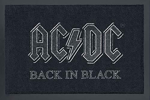 Rockbites Design 1012508710 deurmat, polyamide, zwart, 40 x 60 cm