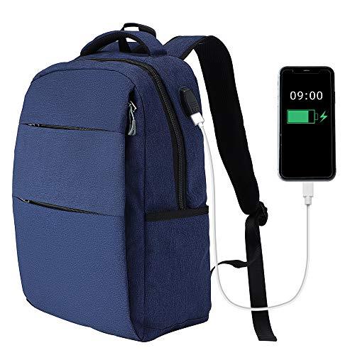 KITHDIA Laptop Rucksack Schwarz 15,6 Zoll Wasserdichter Business Computer Notebook Rucksack mit Laptopfach Herren Damen S8803