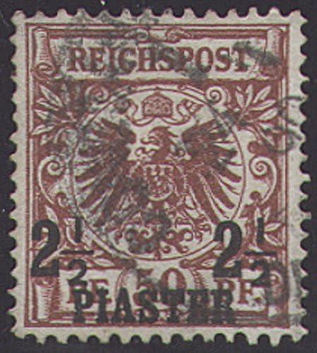 Goldhahn Deutsche Post Türkei Nr. 10a gestempelt geprüft Briefmarken für Sammler