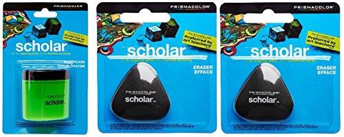 Prismacolor Scholar Colored Pencil Sharpener & Two Erasers