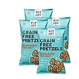 FitJoy Gluten Free Pretzels, Sea Salt Twists, Grain Free, 5 Ounce Bags, 4 Pack