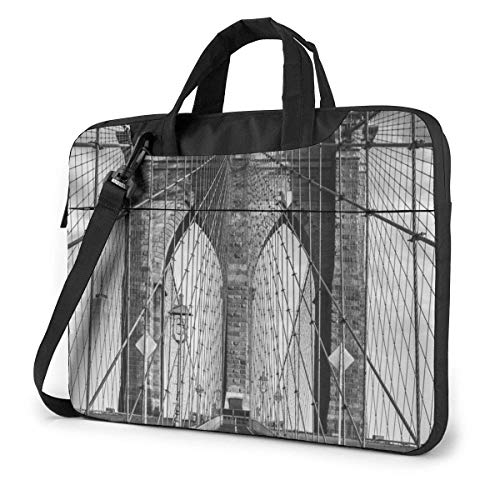 Laptoptas computerhoes hoes hoes afdekking, Brooklyn Bridge zakenreis tablet schouder handtas 15,6 inch