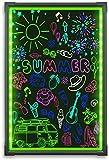 Hosim LED Schreibtafel, 40cm x 60cm Leuchtende Werbetafel mit Fernbedienung und 8 Neon-Stifte,...