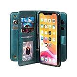 Étui portefeuille en cuir pour iPhone 12 11 Pro Max SE 2020 XR XS 8 7 6 6S Plus avec rabat...